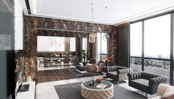 luxury apartment living room