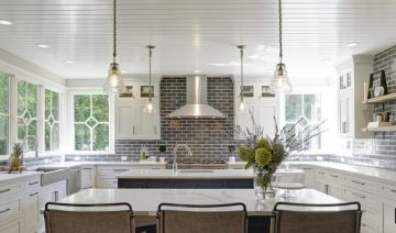 Kitchen-Dublin-Dave-Fox-Remodel-Tile-brick-island-white-cabinets-wood-shelves-pendent-lighting-quartz-Tacchetti1-1920x1275